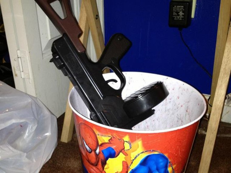 Mom Shun Melson's personal ban on toy guns in her home.