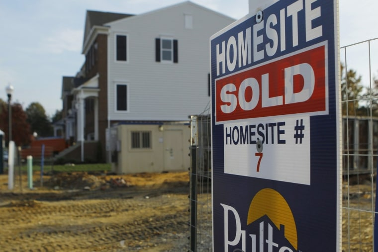 New housing construction is seen in Darnestown, Maryland in this file photo taken October 23, 2012.