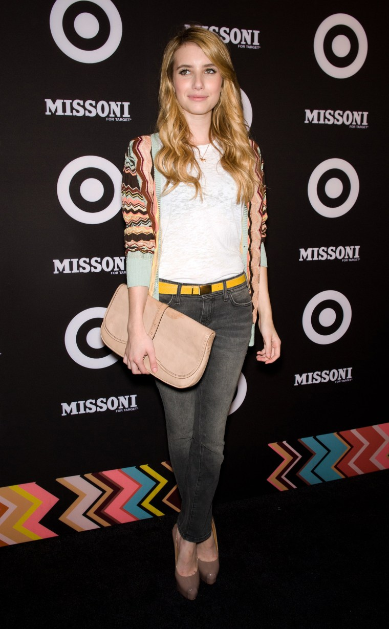NEW YORK, NY - SEPTEMBER 07: Emma Roberts attends the Missoni for Target Collection launch at the Missoni for Target Pop-Up Store on September 7, 2011 in New York City. (Photo by Gilbert Carrasquillo/Getty Images)