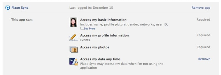 Removing permissions after installation on Facebook