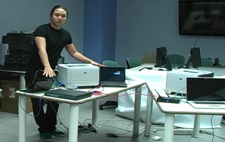Columbia researcher Ang Cui explains how he was able to infect an HP printer with malicious code.