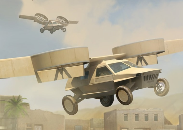 Lockheed Martin's design for DARPA's Transformer TX program to develop a battle-ready flying car has advanced to the prototype development stage. AAI Corporation's design has advanced as well. Ground and air demonstrations could begin by 2015.