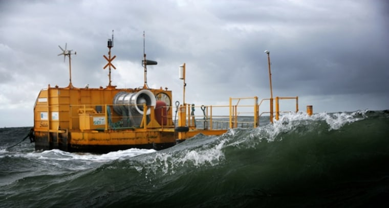 IBM is developing the technology and expertise to analyze the impact wave energy converters such as the one pictured here have on the noise environment of the ocean.