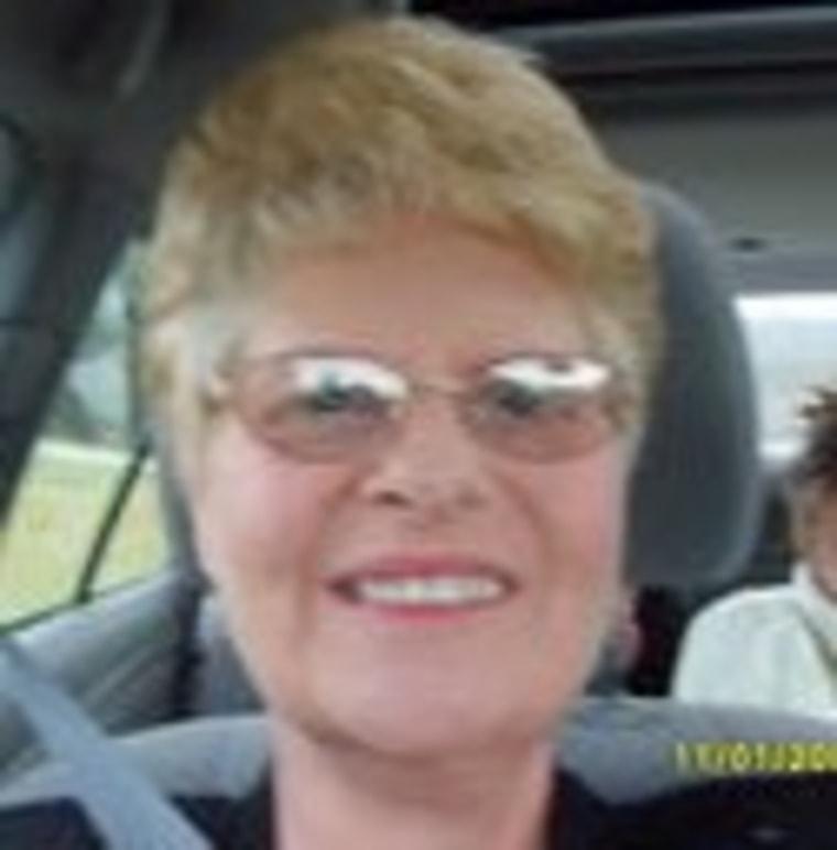 Teacher's aide Edythe Schumacher, 58, says she feels