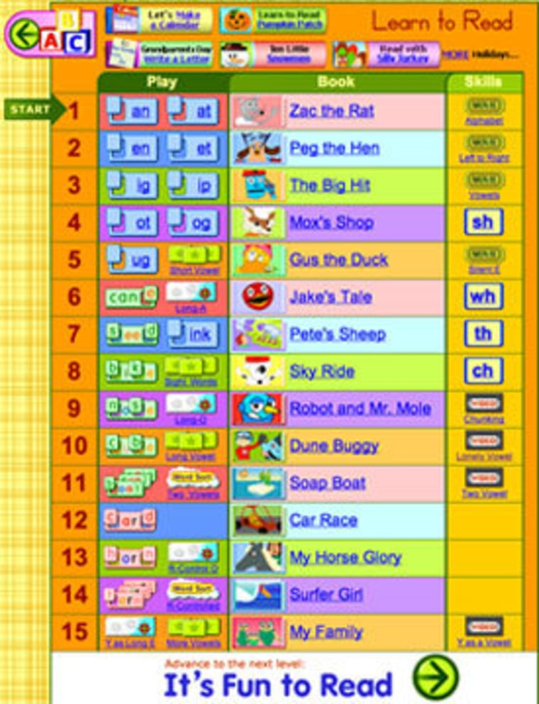 Sites that build your child's math and reading skills