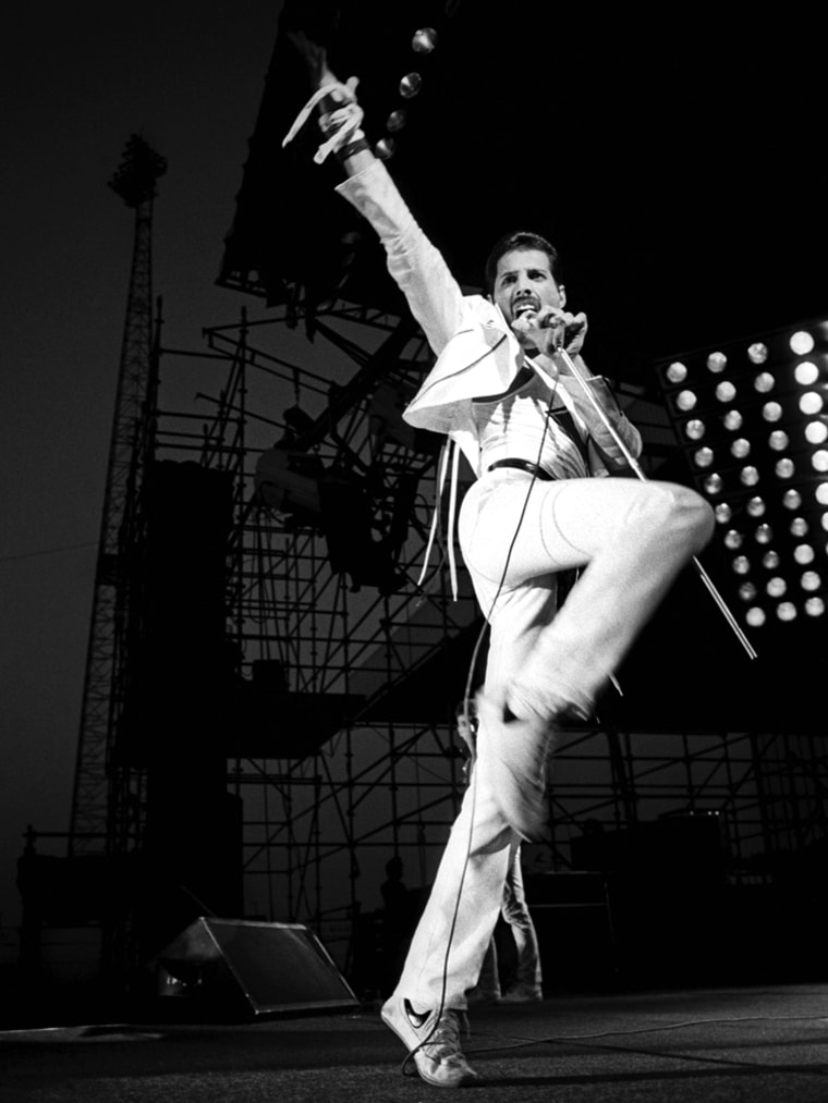 1982:  (FILE PHOTO) ($150 USD MINIMUM PER IMAGE) On September 5, 2011 Freddie Mercury of Queen would have celebrated his 65th birthday while Queen's last five studio albums will be reissued.