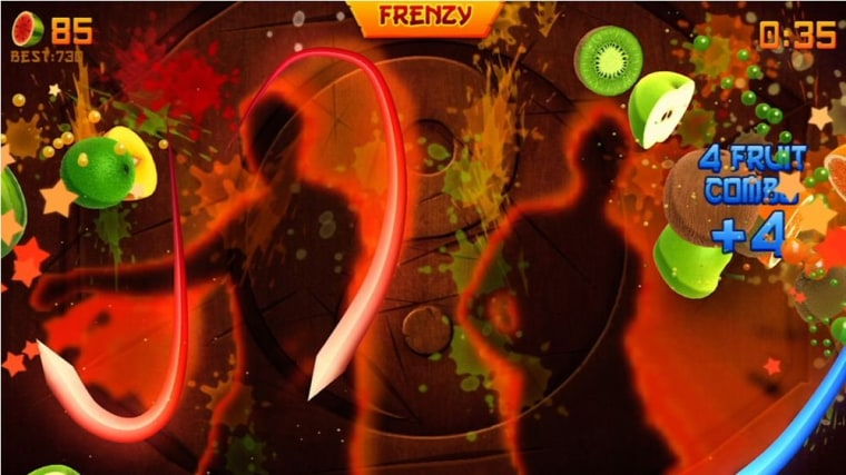 Fruit Ninja' slices and dices the Kinect competition