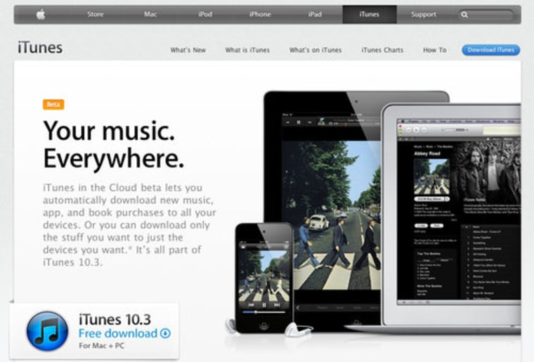iTunes 10 3 now available, brings some iCloud features