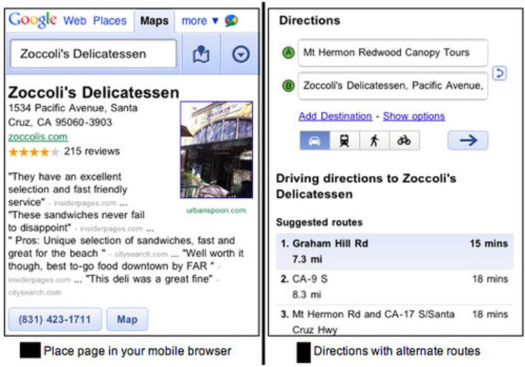 Google Maps updated for Android, iPhone on