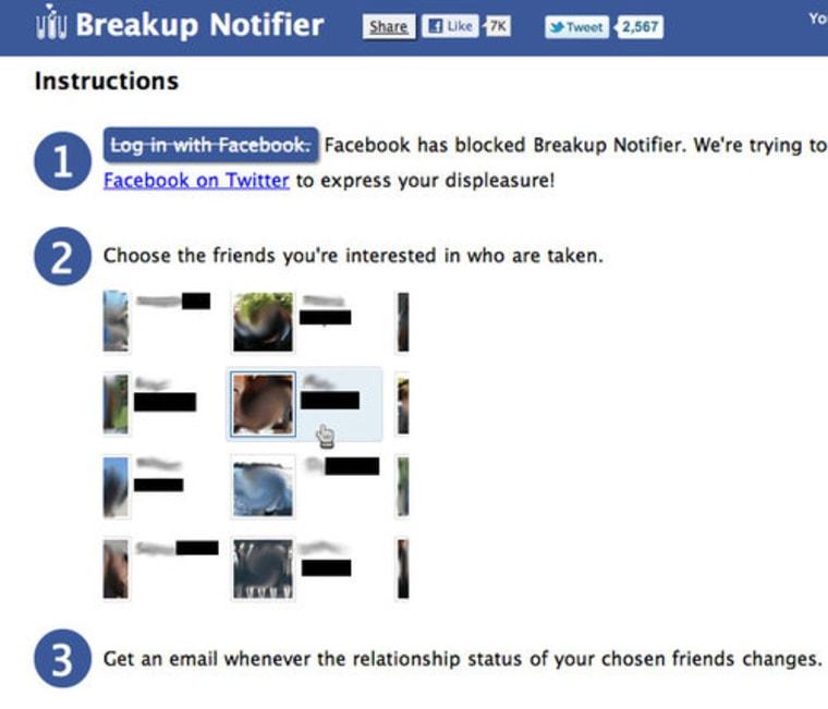 Facebook bans creepy relationship status tracking app