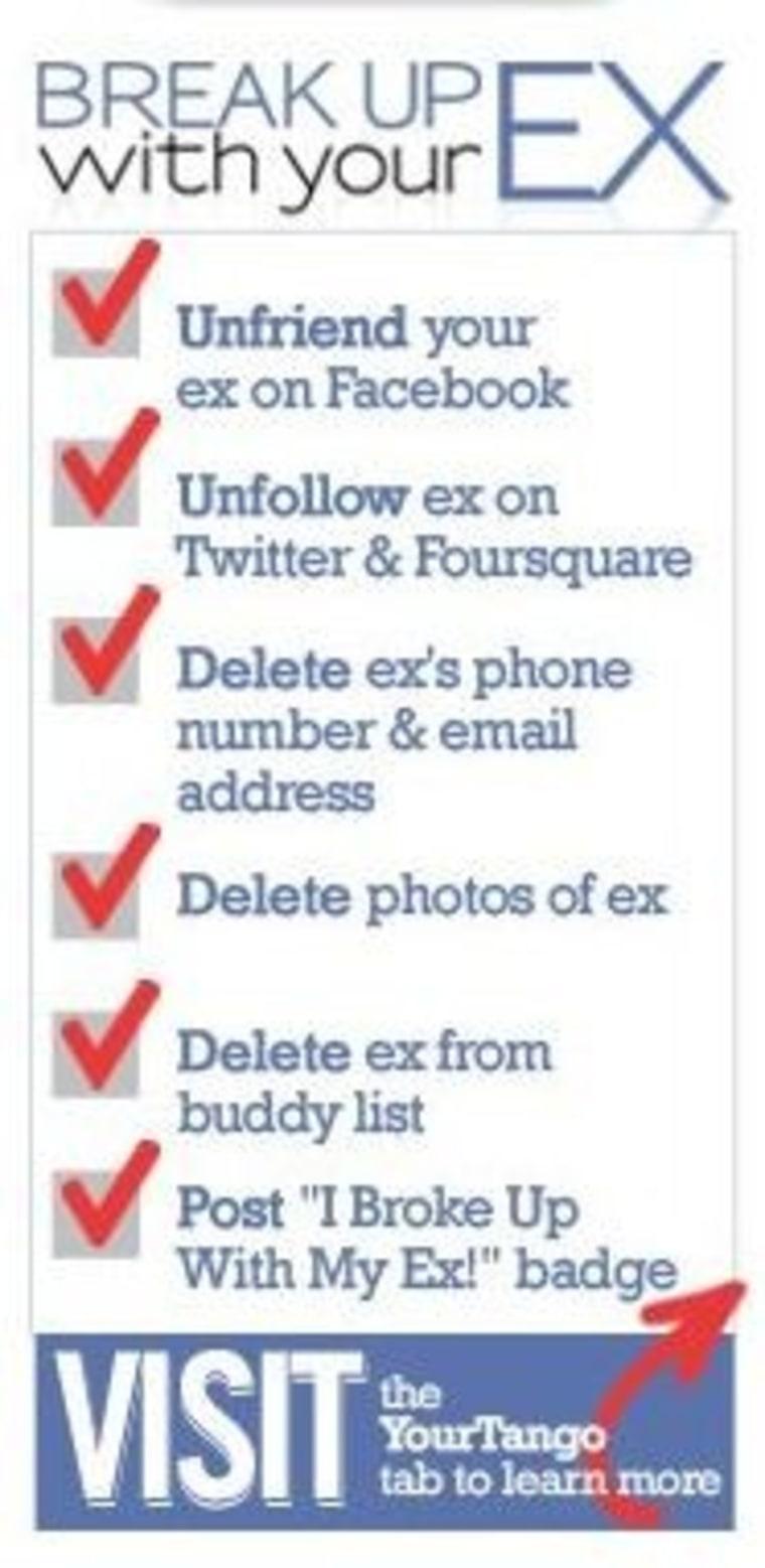 YourTango's breakup with your ex list.