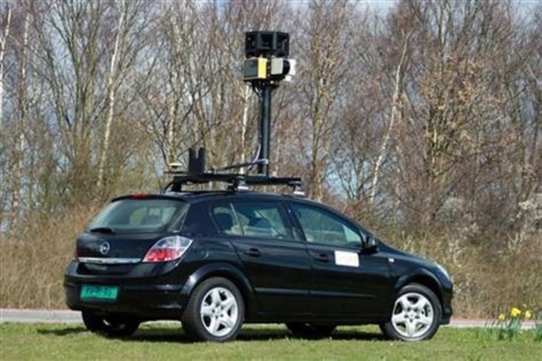 A Google Street View car, similar to this one, reportedly snapped images of a woman's unmentionables.