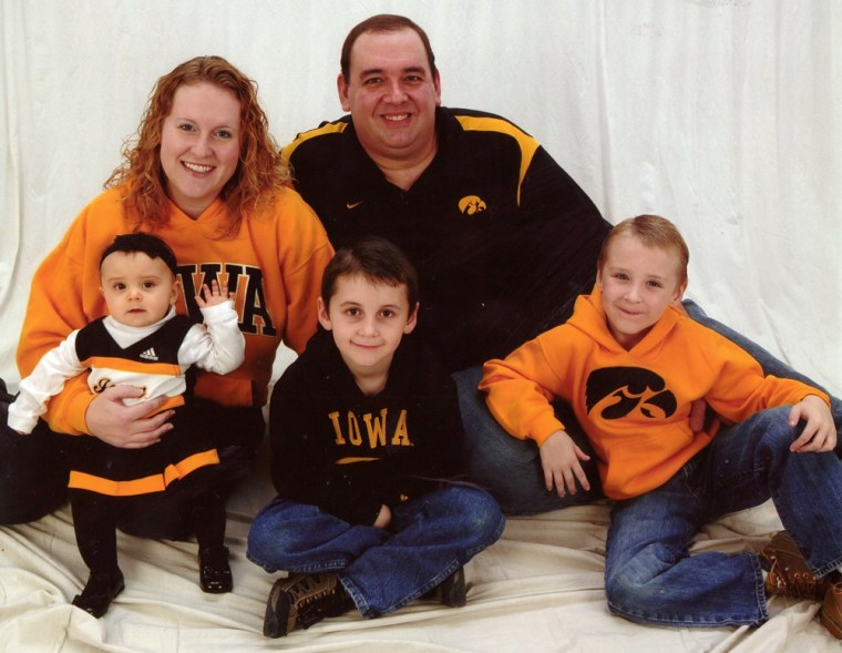 Kevin and Deb McCrea with (from left) Kerynn 6 months (at the time), Carter (6 years), and Hunter McCrea (7 years).