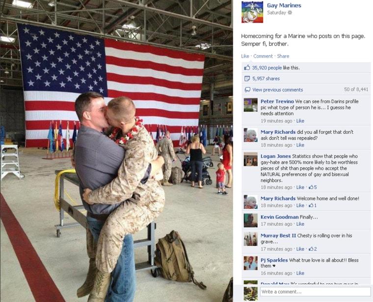 Gay marines homecoming kiss-pics and galleries