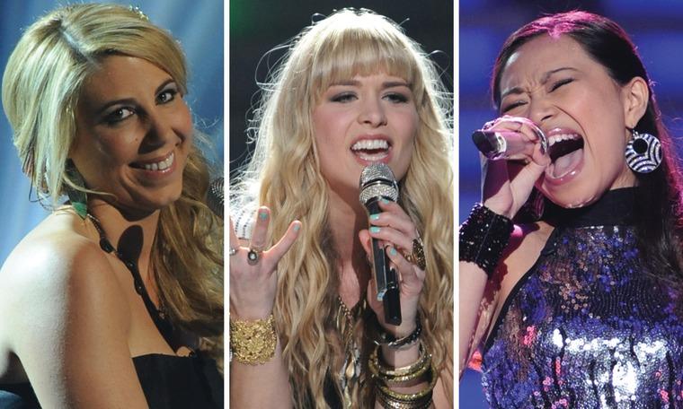 "Elise Testone, Haley Johnsen and Jessica Sanchez on \""American Idol\"""