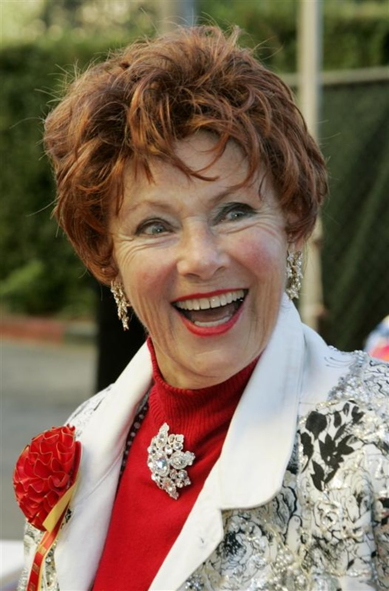 "Actress Marion Ross, best known for her role in the television series ""Happy Days,"" at the 73rd annual Hollywood Christmas Parade on Nov. 28, 2004."