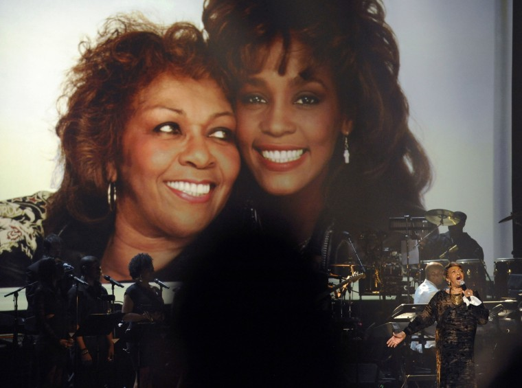 Cissy Houston performing during the tribute to her late daughter, Whitney Houston, at the 2012 BET Awards.