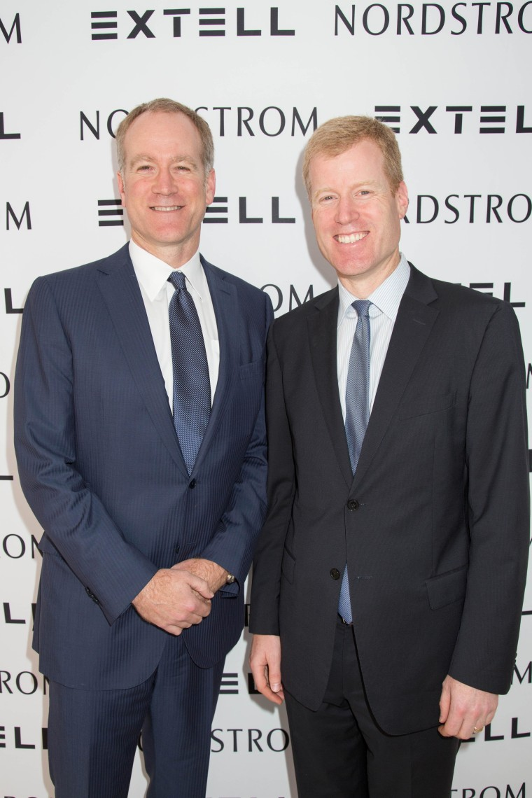Pete Nordstrom, president of merchandising, and Erik Nordstrom, president of stores, during a news conference in New York announcing the new store.