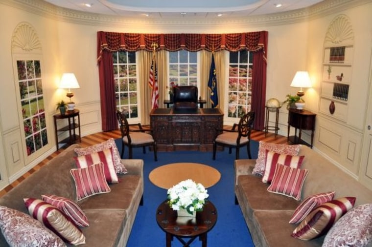 This version of the White House's Oval Office can be rented out. Photo ops, anyone?