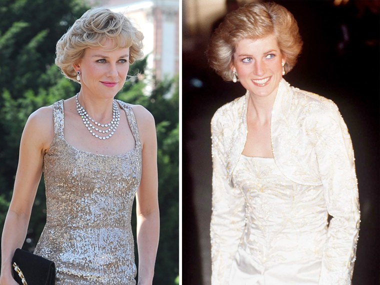 """Actress Naomi Watts (left) will portray Princess Diana of Wales (right) in """"Caught in Flight."""""""