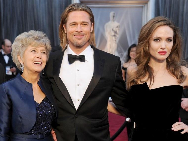 Jane Pitt, Brad Pitt and Angelina Jolie.