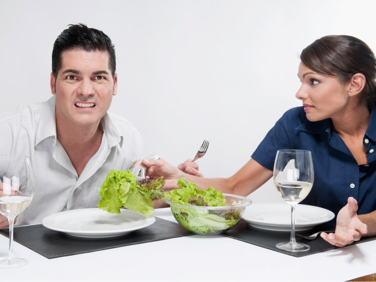 Meat is required for some people to make a love connection, a TODAY.com and Match.com survey finds.
