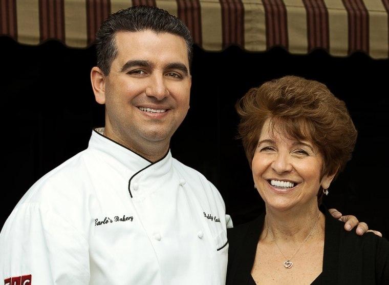 """""""Cake Boss"""" Buddy Valastro and mom Mary."""