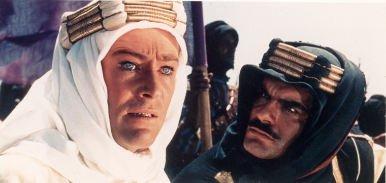 """Peter O'Toole and Omar Sharif in 1962's """"Lawrence of Arabia."""""""
