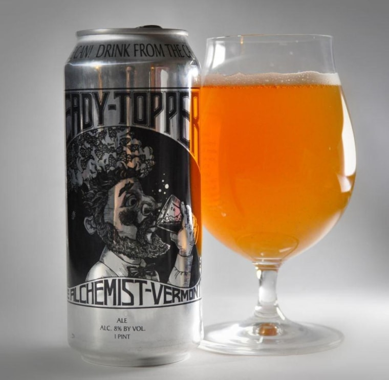 Brewer John Kimmich insists that you drink Heady Topper straight from the can in order to keep the flavor intact.