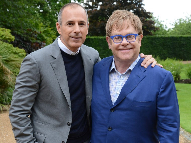 Matt Lauer and Elton John