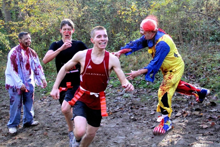 """Runners who cross the finish line with at least one flag in their belt are considered """"alive."""""""