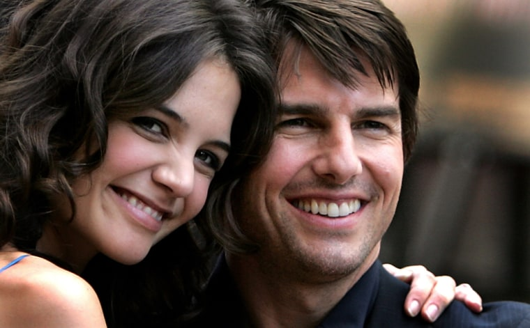 Katie Holmes and Tom Cruise in happier days.