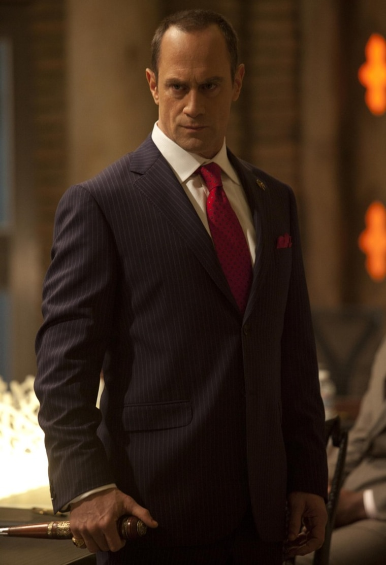 "Christopher Meloni stars as Roman on season five of ""True Blood."""