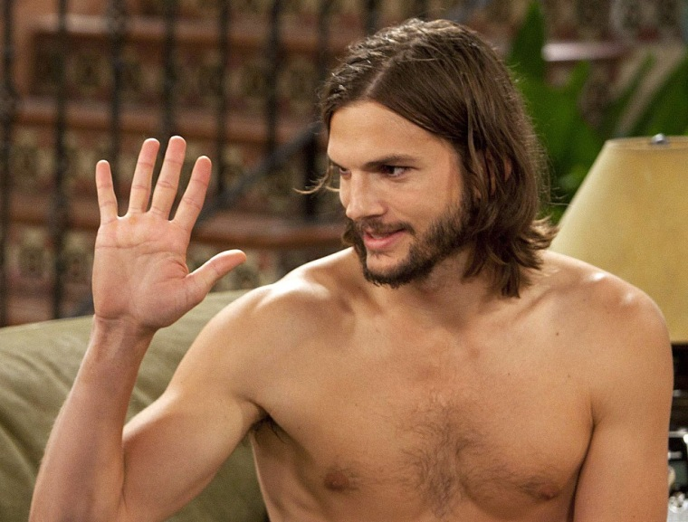 "Ashton Kutcher on ""Two and a Half Men."" According to a study by The Los Angeles Times, Kutcher makes only $1.16 per viewer, while Chelsea Handler makes $16.70 per viewer."