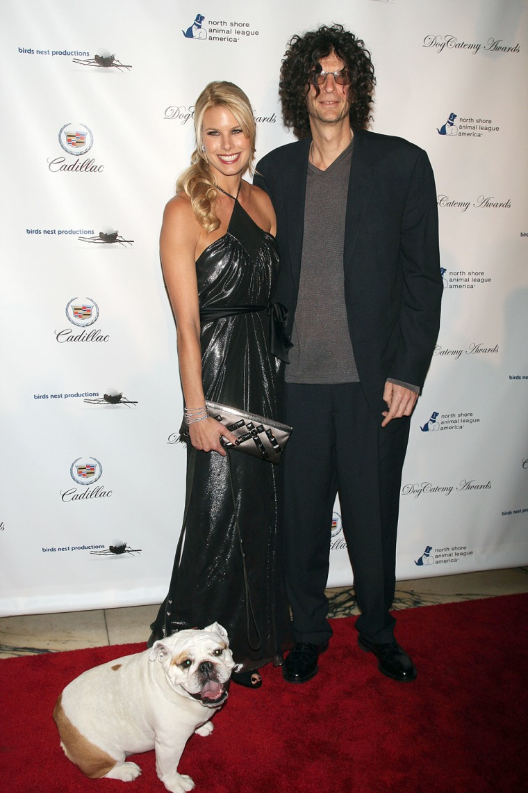 Howard Stern and his wife, seen here with their dog Bianca at the North Shore Animal League America's 2nd annual DogCatemy Awards in 2007, are mourning the loss of their pet this week.