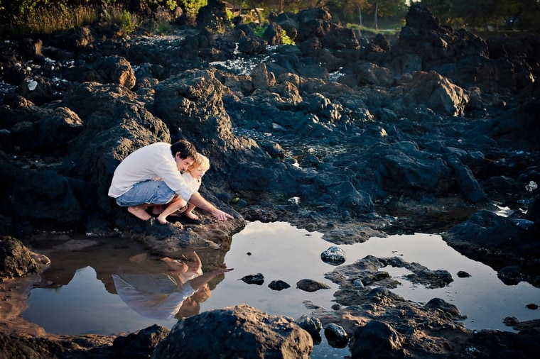 Peter Clarke and his 3-year-old son, Charlie, of Canada hired professional photographer Mariah Milan in December to take pictures of their vacation on Maui, Hawaii.