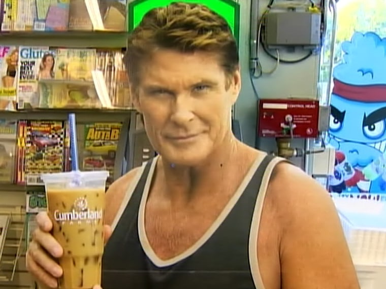 Lifesize cardboard cutouts of actort David Hasselhoff are being stolen in great numbers.