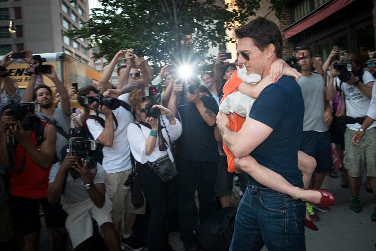 Suri and Tom Cruise.