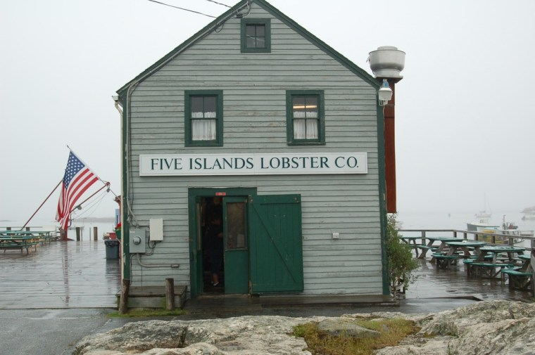 The Five Islands Lobster Co. in Georgetown, Maine.