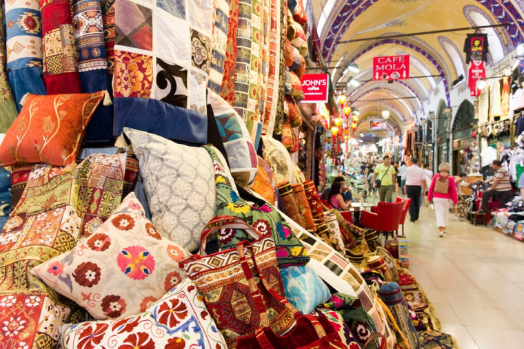Europe's most-visited attraction, the Grand Bazaar in Istanbul, covers 65 streets with 4,000 stores.