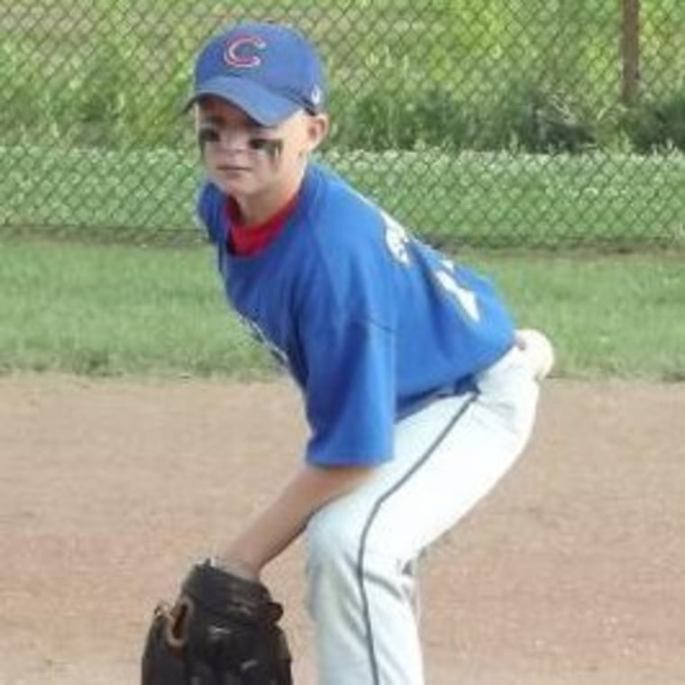 Wyatt, 8, in his first year of pitching.