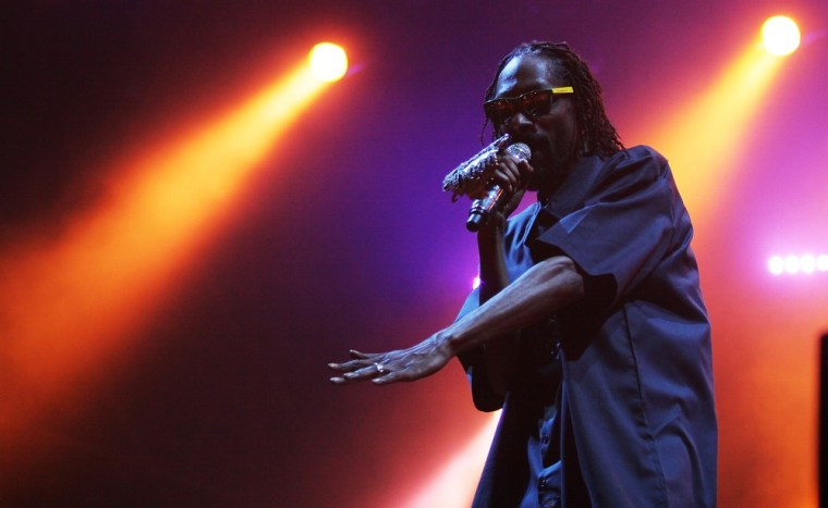 Snoop Dogg performs during the Postepay Rock In Roma at Ippodromo Delle Capanelle on July 3 in Rome, Italy.