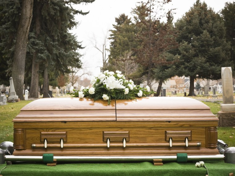 Caskets are among the more unusual items available to rent these days.