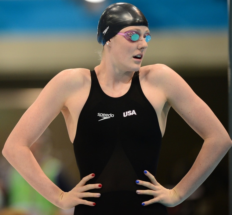 U.S. swimmer and Olympic gold medalist Missy Franklin. A long torso can be an advantage in sports such as swimming.