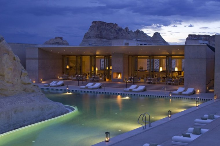 Amangiri is a 34-suite resort tucked in a rocky valley in the southern Utah desert.