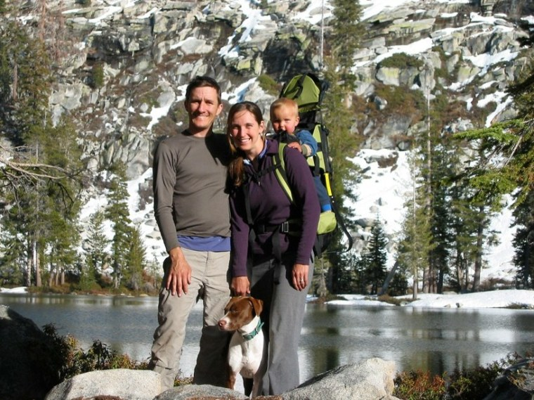 Rosie and Ben Platt, with 13-month-old Toby,  in the Jennie Lakes Wilderness in Sequoia National Forest.