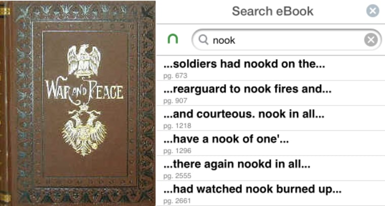 War and Peace and Nook