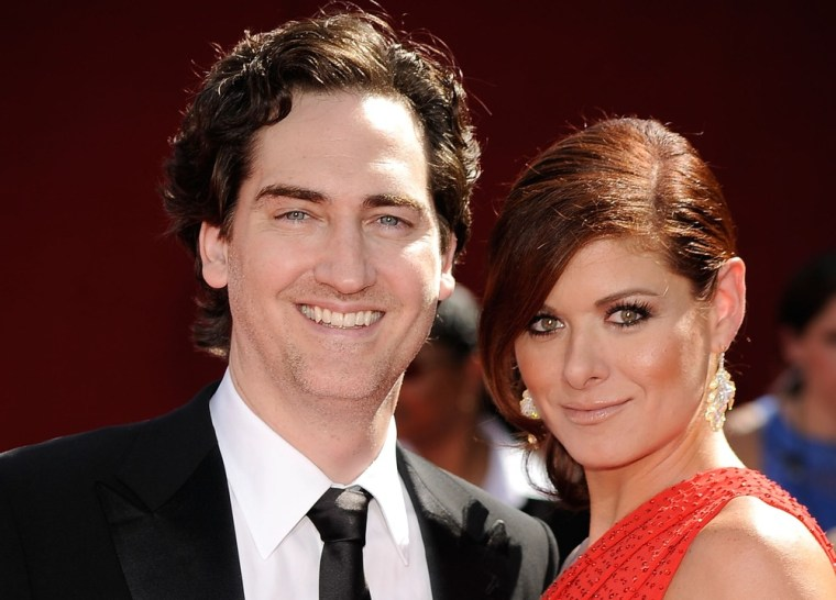 Actress Debra Messing with her husband writer/producer Daniel Zelman who she recently filed to divorce.