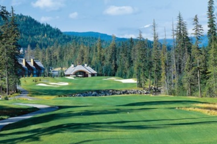The Fairmont Chateau Whistler offers a par 72, 18-hole course on the slopes of the Coast Mountain range in British Columbia.