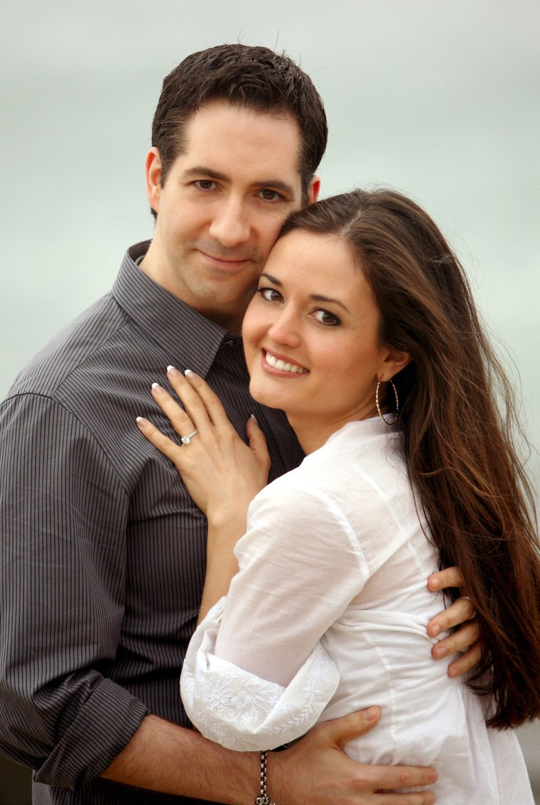 Danica McKellar and Mike Verta.